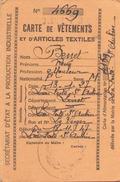 CARTE DE VETEMENT LAFERTE SAINT AUBIN EN 1947 - Vieux Papiers