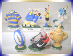 Rugby ...Lot De 7 Fèves...Ref AFF : 59-2007.. (pan 0027) - Sports