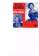 Carton Présentation Disque (Vitrine ?) Nina Lopez Avec L'orchestre Don Diégo Boléro  Para Mi No Mas  Viajera  Te Necesit - Accessories & Sleeves