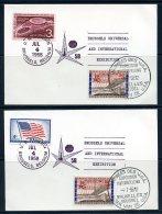 BE  Marcophilie  --  Obl. Mécanique / Machine   ---  EXPO 58  --  Journée Etats Unis / USA  --  2 Cartes