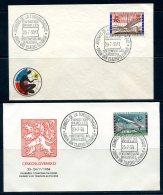 BE  Marcophilie  --  Obl. Mécanique / Machine   --  EXPO 58  --  Journée De La Tchécoslovaquie  --  2 Plis