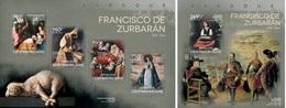 Centrafrica 2014, Art, Zurbaran, 4val In BF+BF