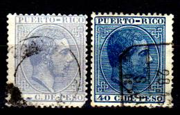 Porto-Rico-0012 - 1882-84 - Yvert & Tellier N. 65, 69 (o) Used - Senza Difetti Occulti. - Central America