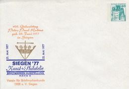 PU 110/20** Siegen`77 Kunst + Philatelie - Briefmarken-Ausstellung Rang III - Verein Für Briefmarkenkunde 1908 E.V. Sieg - Privatumschläge - Ungebraucht