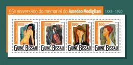 GUINE BISSAU 2015 SHEET AMEDEO MODIGLIANI ART PAINTINGS ARTE PINTURAS Gb15316a - Guinea-Bissau