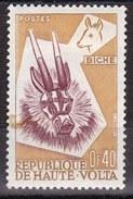 Alto Volta, 1960 - 40c Deer Mask And Deer - Nr.72 Usato° - Alto Volta (1958-1984)