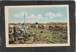 Trinidad-Handling Asphalt At Pitch Lake Linen 1946 - Antique Postcard - Trinidad