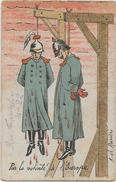 CPA Satirique Caricature Guerre 14-18 Patriotique Germany Kaiser Circulé En 1914 - Satirical