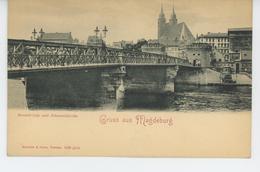 ALLEMAGNE -  Gruss Aus MAGDEBURG - Strombrücke Und Johanniskirche - Magdeburg