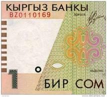 KYRGYZSTAN: RARE Replacement Banknote 1 SOM 1999/2000 P-15 *BZ Prefix*UNC - Kirghizistan