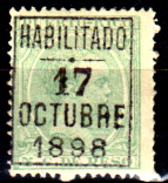 Porto-Rico-0016 - 1898 - Emissione Di Zamboanga (+) Hinged - Senza Difetti Occulti. - Central America