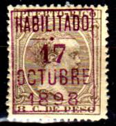 Porto-Rico-0017 - 1898 - Emissione Di Zamboanga (+) Hinged - Senza Difetti Occulti. - Central America