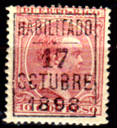 Porto-Rico-0018 - 1898 - Emissione Di Zamboanga (+) Hinged - Senza Difetti Occulti. - America Centrale