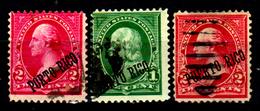 Porto-Rico-0019 - 1899-1900 - Yvert & Tellier N. 175, 179, 180 (o) Used - Senza Difetti Occulti. - Central America