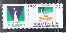 INDIA, 2017, MY STAMP,  National Insurance Company Limited, 110 Glorious Years LIMITED ISSUE, MNH, (**)