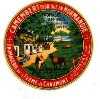 N 714 -  ETIQUETTE DE FROMAGE   -  CAMEMBERT   FROMAGERIE DE LA FERME DE CAUMONT A BOISSEY (CALVADOS) - Fromage