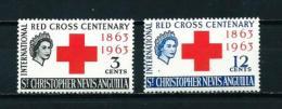 San Cristóbal (Británico) Nº Yvert  157/8  En Nuevo - San Cristóbal Y Nieves - Anguilla (...-1980)