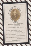 7AJ5  IMAGE PIEUSE RELIGIEUSE Mortuaire ARMAND LETORT PIRé1893 2 SCANS - Images Religieuses