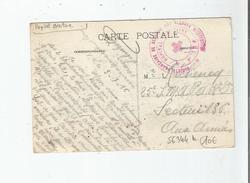 CACHET MILITAIRE DE L'HOPITAL AUXILIAIRE N° 15 B .SOCIETE FRANCAISE DE SECOURS AUX BLESSES MILITAIRES 1916 (CP DE NANCY) - Poststempel (Briefe)