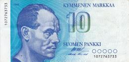 Billet FINLANDE De 1986 SUP 10 Kymmenen Markkaa @ PICK 113 @ Portrait De Paavo Nurmi - Finlandia
