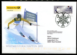 "First Day Cover Germany 2010 Mi.Nr.2834 Ersttagsbrief""Alpine Ski-WM,Riesenslalom "" 1 FDC"