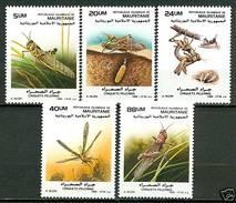 MAURITANIA 1988 Locusts Set (5v), XF MNH, MiNr 950-4, SG 925-9 - Mauritania (1960-...)