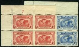 Australia. Scott #111-112. SG #121-122. Two Blocks Of Four. Mint. **/* - Nuevos