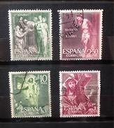 Espagne - Espana  1962 -  YT 1135 - 1140 1142 1144  Lot De 4 Timbres Les 15 Mystères Du Rosaire - 1931-Aujourd'hui: II. République - ....Juan Carlos I