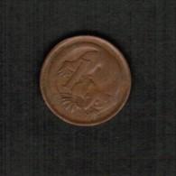 AUSTRALIA   1 CENT 1966 (KM #62) - Decimal Coinage (1966-...)