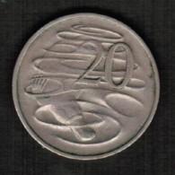 AUSTRALIA   20 CENTS 1968 (KM #66) - Decimal Coinage (1966-...)