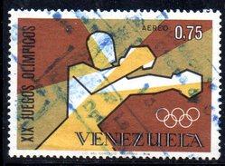 XP334 - VENEZUELA 1968, Olimpiadi Messico 75 C. N. 954  Usato : Boxe - Venezuela