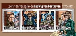 GUINE BISSAU 2015 SHEET BEETHOVEN COMPOSERS COMPOSITEURS COMPOSITORES KOMPONISTEN Gb15423a - Guinea-Bissau