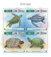 GUINE BISSAU 2015 SHEET TURTLES TORTUES TARTARUGAS TORTUGAS TARTARUGHE SCHILDKROTEN REPTILIEN REPTILES MARINE Gb15504a - Guinea-Bissau