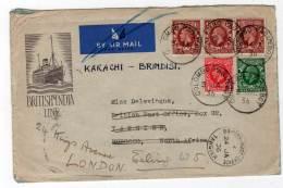 LETTRE - COLOMBO PAQUEBOT Du 05/01/1936 Via TANGIER - 1902-1951 (Rois)