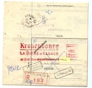 E.M.A. KRONENBOURG LA BIERE D'ALSACE - ABIDJAN 23 Nov 1959 Sur Lettre Recommandée Retournée à L'env  - CAD  ABIDJAN R.P.