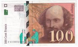 100 Francs Cézanne 1997, Fayette 74.01 P158,N° F013092432, Etat : SUP - 1992-2000 Dernière Gamme