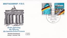 Germany FDC 1990 Öffnung Der Innerdeutschen Grenze (T15-30) - FDC: Buste