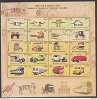 INDIA, 2017 TRANSPORT,Public Utility, Vintage Cars, Rickshaw, Carts,carriage,palanquin, Sheet Of 20 Different ,MNH (**)