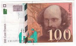 100 Francs Cézanne 1997, Fayette 74.01 P158,N° J011271738, Etat : SUP - 1992-2000 Dernière Gamme
