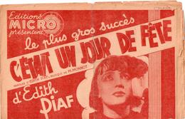 C'était Un Jour De Fête - Edith Piaf + Pour Un Moment D'amour (Ginette Leclerc) + Parle,parle,parle-moi (Daniel Clérisse - Musique & Instruments