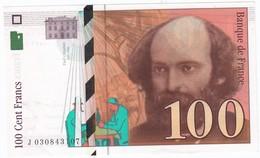100 Francs Cézanne 1997, Fayette 74.01 P158,N° J030843107, Etat : NEUF - 1992-2000 Dernière Gamme