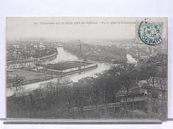 92 - PANORAMA SUR LA SEINE PRES DE BELLEVUE - AU 1er PLAN, LE FUNICULAIRE - 1905 - Meudon
