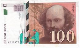 100 Francs Cézanne 1997, Fayette 74.01 P158,N° K021376181, Etat : SUP - 1992-2000 Dernière Gamme