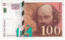100 Francs Cézanne 1997, Fayette 74.01 P158,N° Q008830861, Etat : SUP - 1992-2000 Dernière Gamme