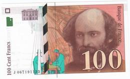 100 Francs Cézanne 1998, Fayette 74.02 P158,N° J067191133, Etat : NEUF - 1992-2000 Dernière Gamme