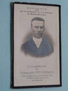 DP Fernand POURBAIX ( Par Le Personnel Du Charbonnage De Sacré-Madam) Dampremy 12 Fev 1882 - 8 Mai 1912 ( Zie Foto´s ) ! - Godsdienst & Esoterisme