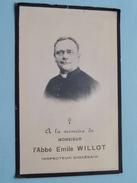 DP L'Abbé Emile WILLOT ( Insp. Diocésain ) Marche 1 Mai 1909 à L'age De 49 Ans ( Zie Foto´s ) ! - Religion & Esotericism