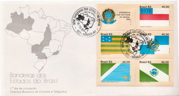 Brazil Flags Set On FDC - Briefe