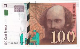100 Francs Cézanne 1998, Fayette 74.02 P158,N° Z063021757, Etat : NEUF - 1992-2000 Dernière Gamme