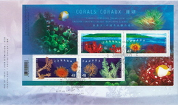 Canada Corals SS On FDC - Marine Life